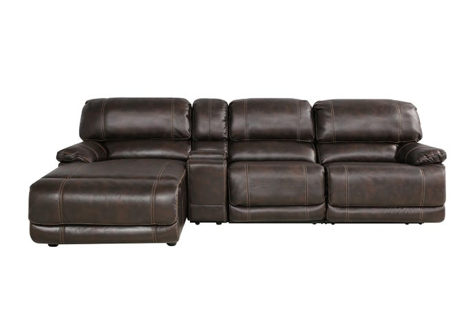 4-Piece Sectional - Reclining Armchair & Left-Side Lounger