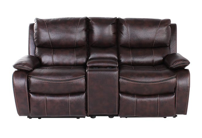 3-Piece Reclining Loveseat with console