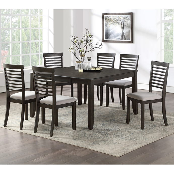 Square table with 6 chairs