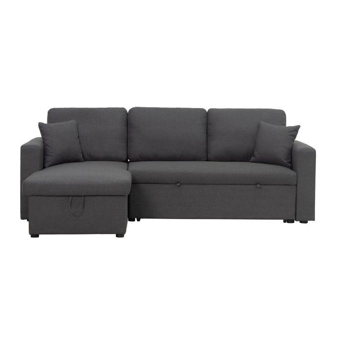 Sectionnel réversible avec sofa-lit et rangement