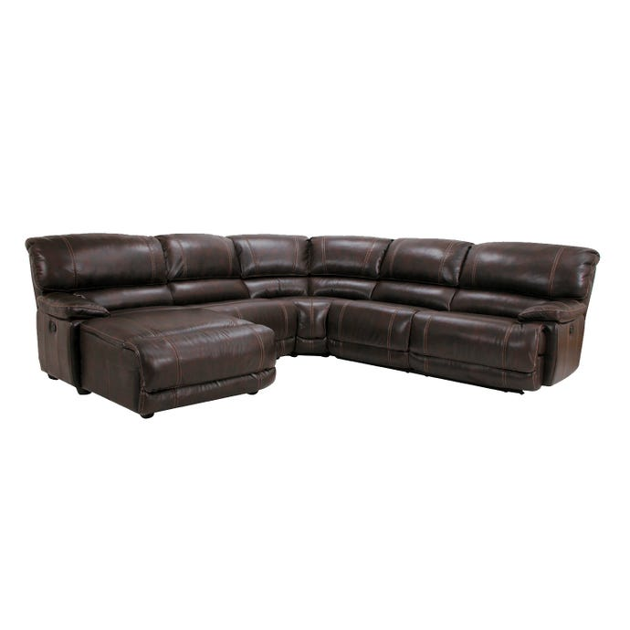 5-Piece Reclining Sectional - Left-Side Reclining Lounger