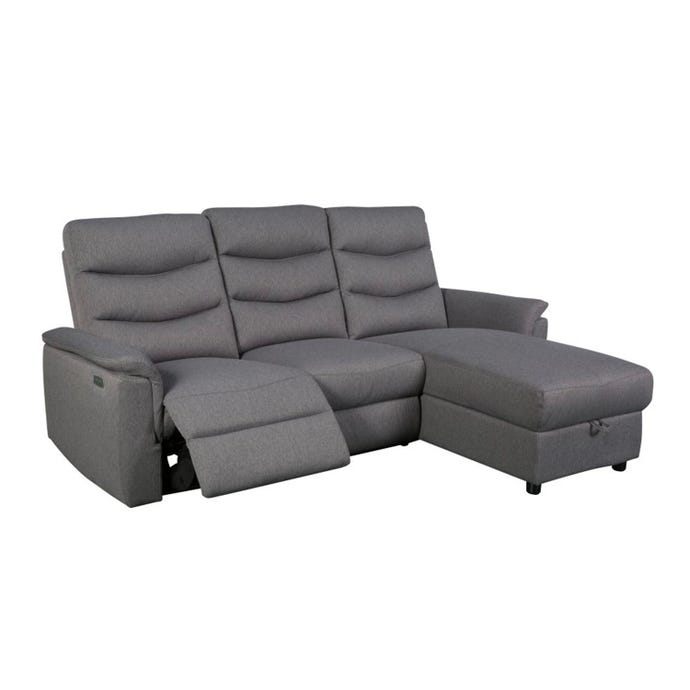 Right-side sectional electric recliner with storage
