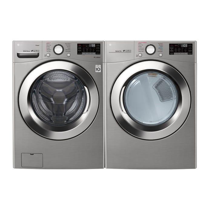 LG Washer & Dryer Set, Graphite Steel