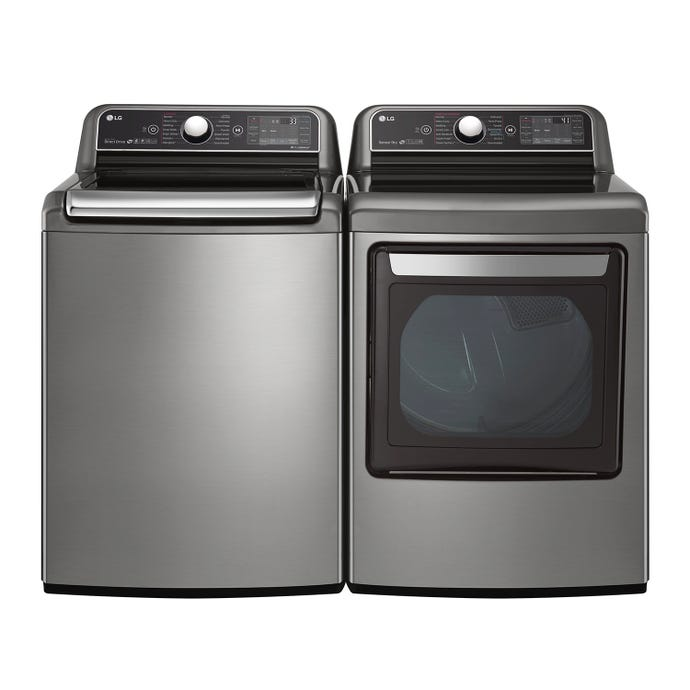 LG Washer and Dryer Set, Stainless