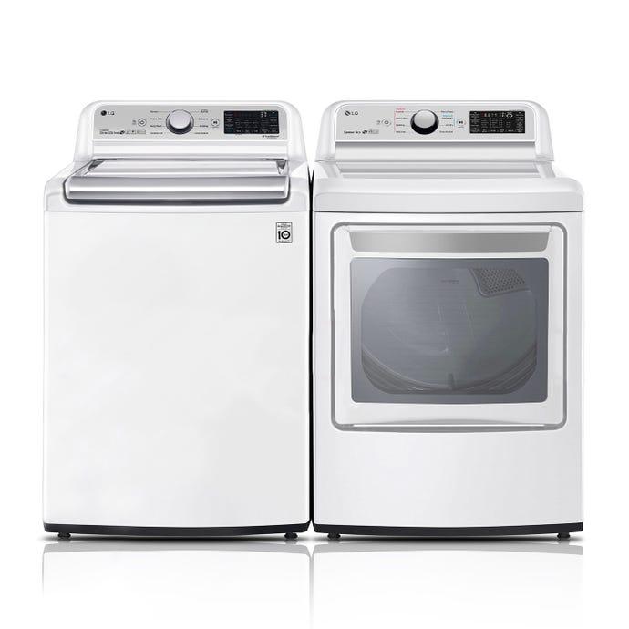 LG Washer Dryer Set, White